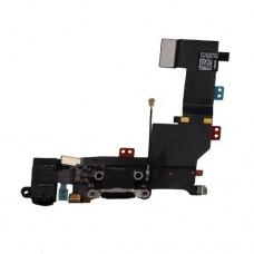 Нижний шлейф с черным разъемом для зарядки и микрофоном для iPhone 5C