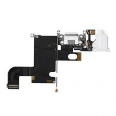 Нижний шлейф с белым разъемом для зарядки и микрофоном для iPhone 6
