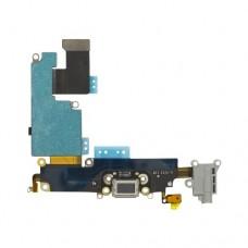 Нижний шлейф с черным разъемом для зарядки и микрофоном для iPhone 6 Plus (6+)