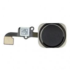 Кнопка Home (домой) со шлейфом для iPhone 6S черная